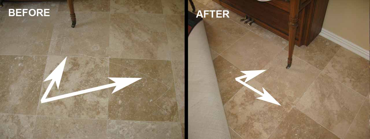 Travertine Scratch Repair